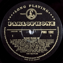 30. BEATLES-PLEASE PLEASE ME-1963-ПЕРВЫЙ ПРЕСС(МОNO) UK-GOLD PARLOPHONE-NMINT/NMINT